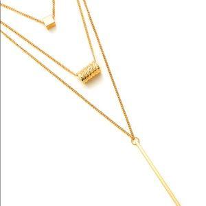 belleamejanice Jewelry - Layered Gold Geometric Pendant Necklace